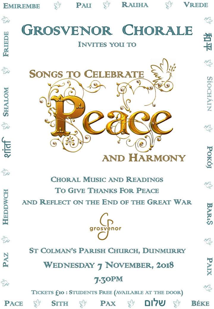 Songs to Celebrate Peace and Harmony   Grosvenor